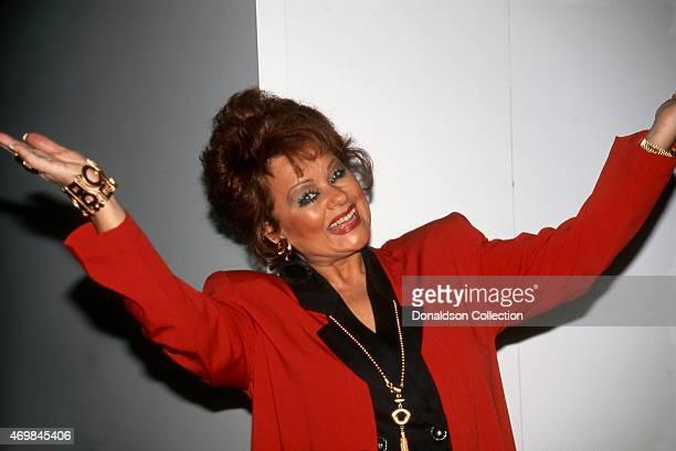Evangelist and television personality Tammy Faye Bakker poses for a portrait at The National Association of Television Program Executives convention...
