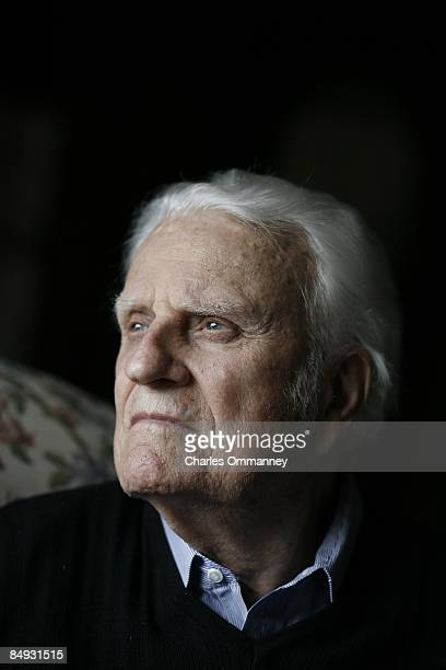 Evangelist Billy Graham at his home in the mountains of Montreat July 25 2006 near Asheville North Carolina Billy and Ruth Graham see out their days...
