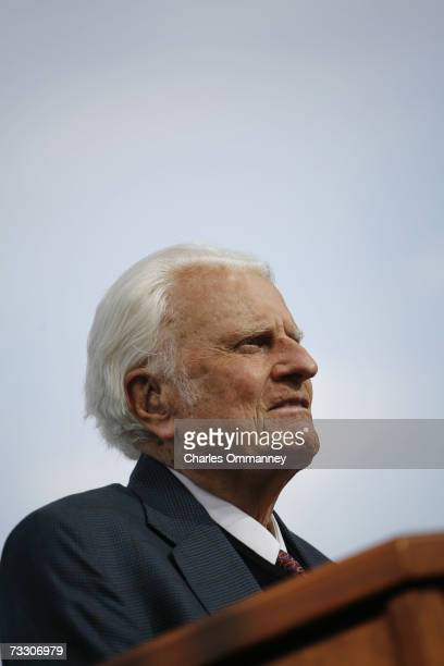 Evangelist Billy Graham preaches during the Metro Maryland 2006 Festival on July 9 2006 at Oriole Park at Camden Yards in Baltimore Maryland Franklin...