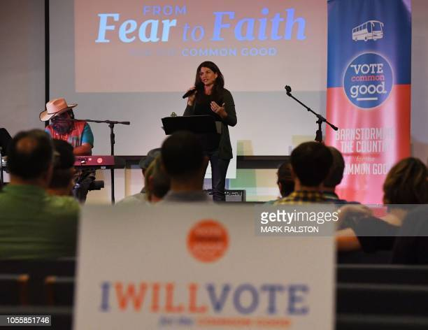 Evangelist Pastor Christy Berghoef from the group 'Vote Common Good' who 'oppose President Trump and are working to dislodge control of Congress from...