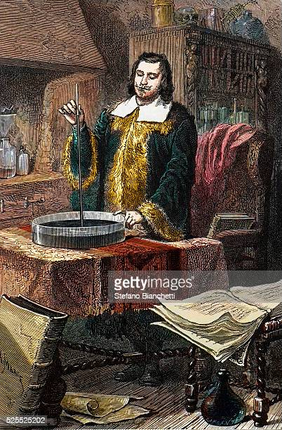 Evangelista Torricelli or Toricelli Italian mathematician and physicist inventing the barometer
