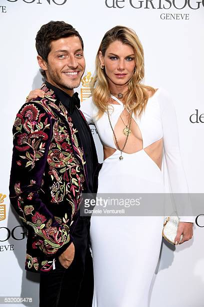 Evangelo Bousis and Angela Lindvall attends the De Grisogono Party during the annual 69th Cannes Film Festival at Hotel du CapEdenRoc on May 17 2016...