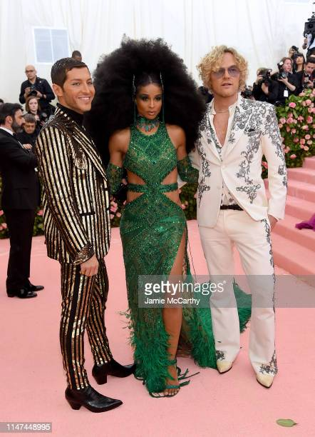 Evangelo Bousis Ciara and Peter Dundas attend The 2019 Met Gala Celebrating Camp Notes on Fashion at Metropolitan Museum of Art on May 06 2019 in New...