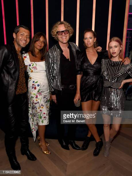 Evangelo Bousis Lady Debonnaire Von Bismarck Peter Dundas Sophia Hesketh and Lady Mary Charteris attend Dundas Travelling Flagship on June 06 2019 in...