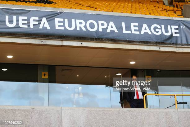 Evangelos Marinakis the owner of Olympiacos and Nottingham Forest during the UEFA Europa League round of 16 second leg match between Wolverhampton...
