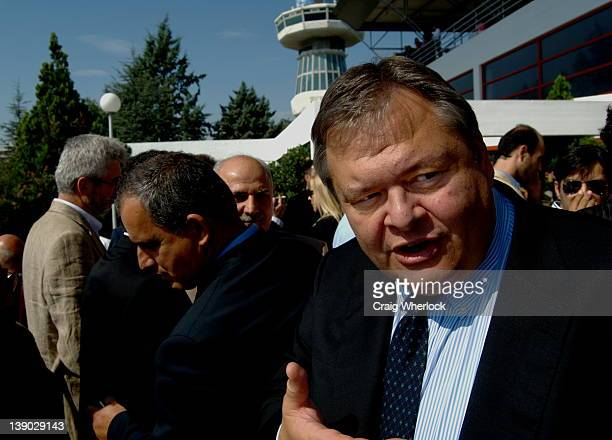 Evangelos Venizelos, now Greek economic minister campaigning in Thessaloniki in the run up to the 2008 general elections.