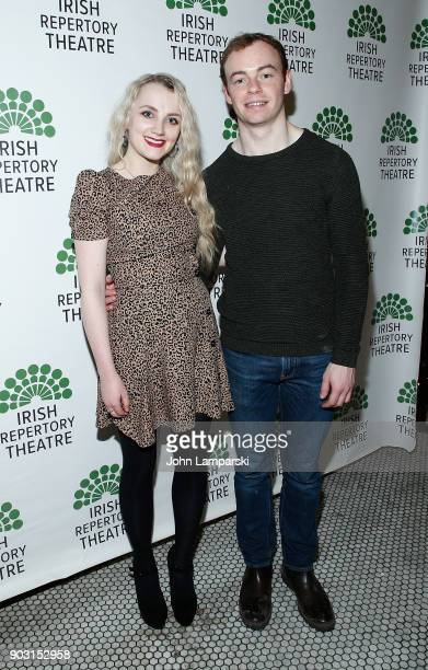 Evanna Lynch and Colin Campbell attend Disco Pigs opening night at Jake's Saloon on January 9 2018 in New York City