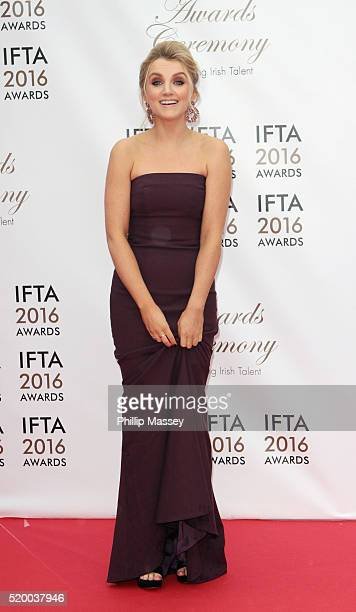 Evanna Lynch attends the 2016 IFTA Film Drama Awards at Mansion House on April 9 2016 in Dublin Ireland