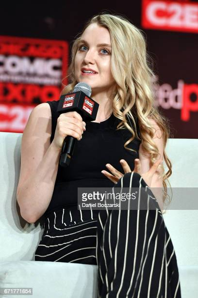 Evanna Lynch attends the 2017 C2E2 Comic and Entertainment Expo at McCormick Place on April 22 2017 in Chicago Illinois