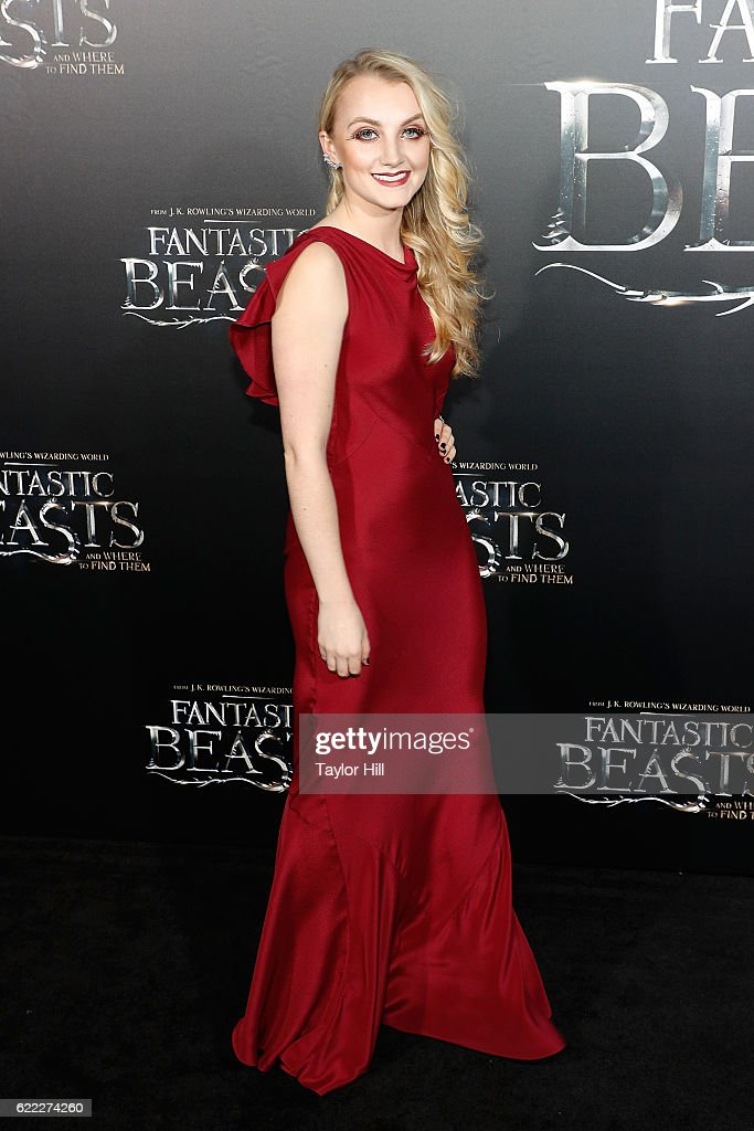 Evanna Lynch attends the premiere of 'Fantastic Beasts and Where to Find Them' at Alice Tully Hall, Lincoln Center on November 10, 2016 in New York City.