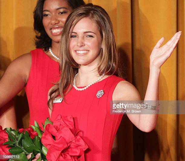 Evanne Elizabeth Friedmann reacts after being named the 2011 Tournment of Roses Rose Queen at the Pasadena Convention Center on October 19 2010 in...