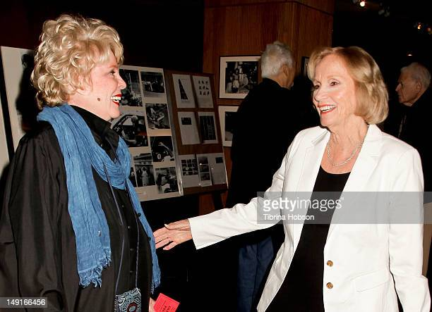 Evans Evans Frankenheimer and Eva Marie Saint attend the last 70mm film festival series screening of 'Grand Prix' at AMPAS Samuel Goldwyn Theater on...