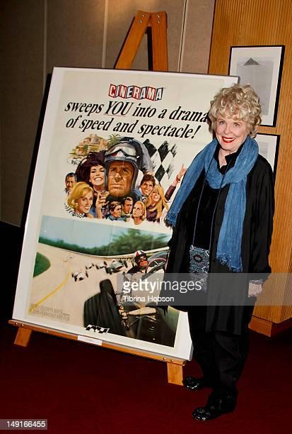 Evans Evans Frankenheimer attends the last 70mm film festival series screening of 'Grand Prix' at AMPAS Samuel Goldwyn Theater on July 23 2012 in...