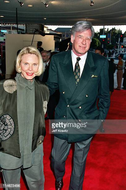 Evans Frankenheimer and John Frankenheimer during Screening of HBO's And the Band Played On at The Academy Theater in Beverly Hills CA United States