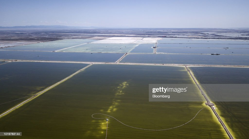 Aerial Views of Qinghai Salt Lake Industry Co.'s Evaporation Ponds