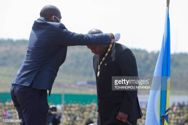 Evariste Ndayishimiye , Burundi's elected President from the ruling party, the National Council for the Defense of Democracy - Forces for the Defense...