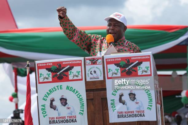 Evariste Ndayishimiye Burundi's Presidential candidate of the ruling party the National Council for the Defense of Democracy Forces for the Defense...