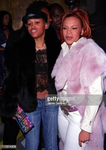 Eve and Faith Evans during Eve and Faith Evans at a Listening Party at Club Sacci at Club Sacci New York City in New York New York United States