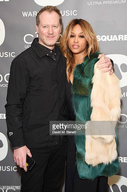 Eve and guest attend the Warner Music Group Ciroc Vodka Brit Awards after party at Freemasons Hall on February 24 2016 in London England
