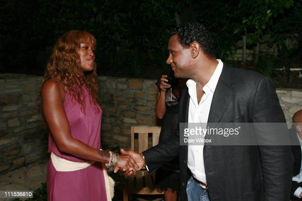 Eve And Sammy Sosa during Brett Ratner Hosts a Party For The President Of The Dominican Republic at Private Residence in Beverly Hills, California,...
