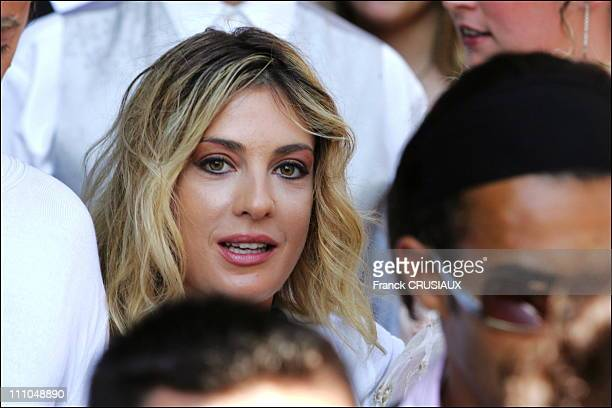 Eve Angeli at wedding of Elodie Gossuin and Bertrand Lacherie in Compiegne France on July 01st 2006