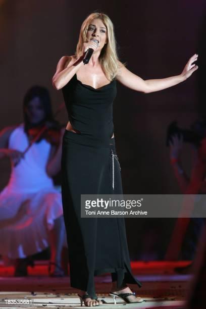 Eve Angeli during Fete de la Musique on France 2 Live Show / Music Day in Versailles at Chateau de Versailles in Versailles France