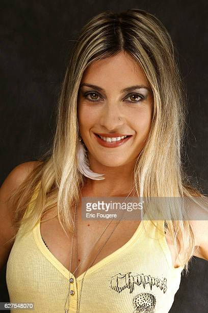 """Eve Angeli on the set of TV show """"Les Grands du Rire""""."""