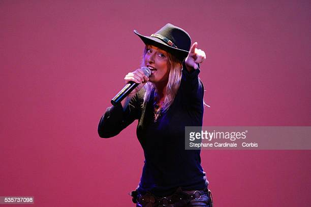 Eve Angeli performs at the Faire face au SIDA Foundation AIDS gala benefit
