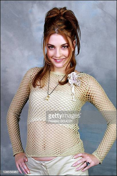 Eve Angeli singer in Paris France on November 26th 2002