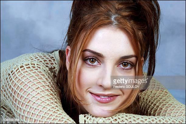 Eve Angeli, singer in Paris, France on November 26th, 2002.