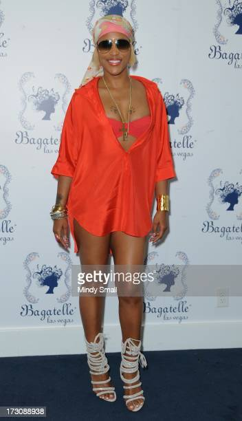 Eve appears at Bagatelle Beach at the New Tropicana Las Vegas on July 6 2013 in Las Vegas Nevada
