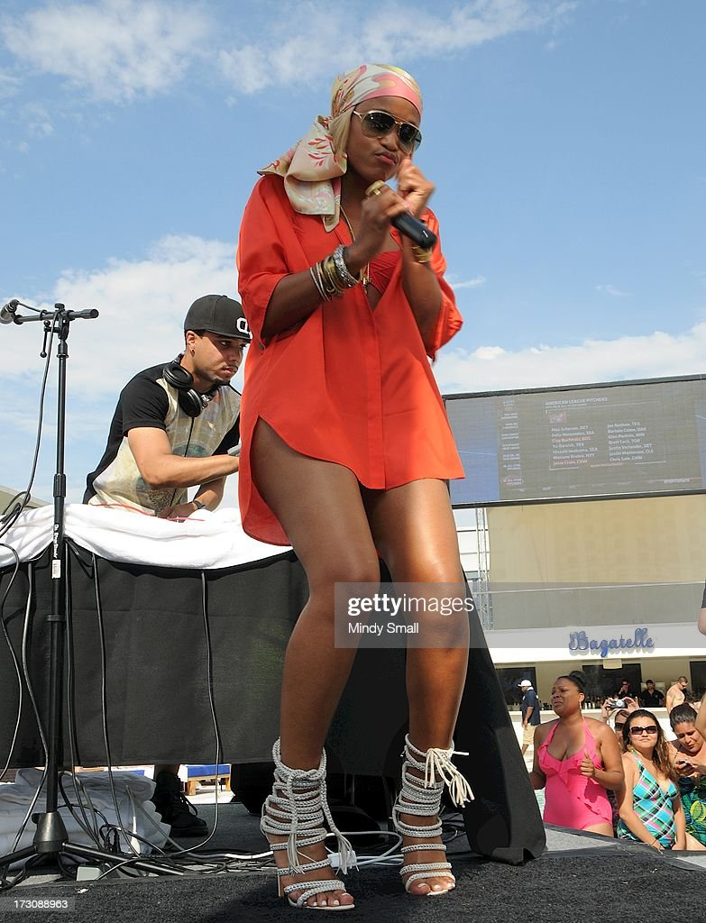 Eve appears at Bagatelle Beach at the New Tropicana Las Vegas on July 6, 2013 in Las Vegas, Nevada.