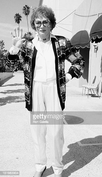 Eve Arden attends 38th Annual Primetime Emmy Awards on September 21 1986 at the Pasadena Civic Auditorium in Pasadena California