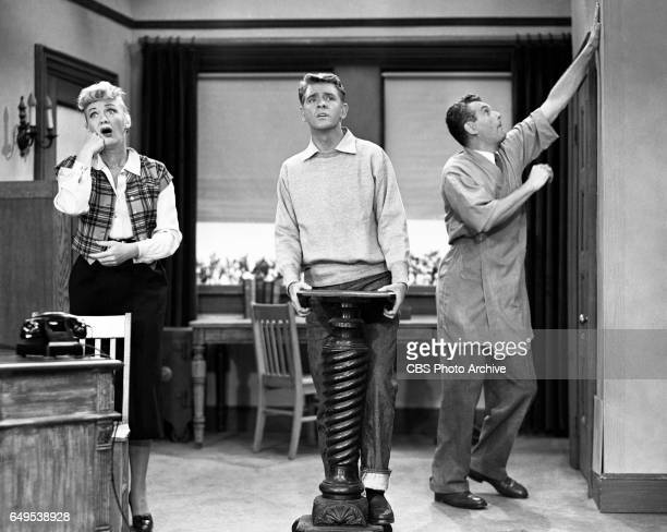 Eve Arden Richard Crenna and Robert Rockwell star in the CBS television program Our Miss Brooks episode titled Living Statues originally broadcast...