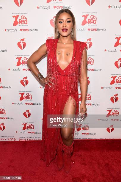Eve attends The American Heart Association's Go Red For Women Red Dress Collection 2019 Presented By Macy's at Hammerstein Ballroom on February 7...