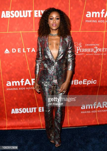 Eve attends the amfAR Gala Los Angeles 2018 at Wallis Annenberg Center for the Performing Arts on October 18 2018 in Beverly Hills California