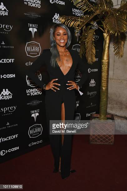 Eve attends the official launch party for the Gumball 3000 Rally at Proud Embankment on August 4 2018 in London England The 2018 Gumball 3000 Rally...