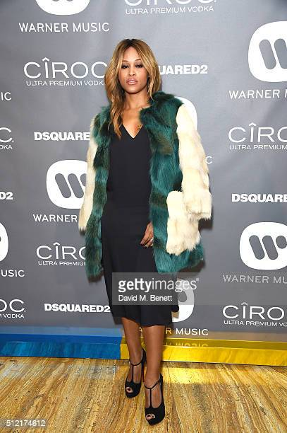 Eve attends the Warner Music Group Ciroc Vodka Brit Awards after party at Freemasons Hall on February 24 2016 in London England
