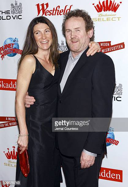 Eve Best and Colm Meaney during Kevin Spacey Hosts The Old Vic Theatre Benefit at Planet Hollywood in New York City April 19 2007 at Planet Hollywood...