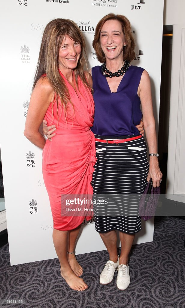 Eve Best and Haydn Gwynne attend an after party following the press night performance of 'The Crucible' at The Savoy Hotel on July 3, 2014 in London, England.