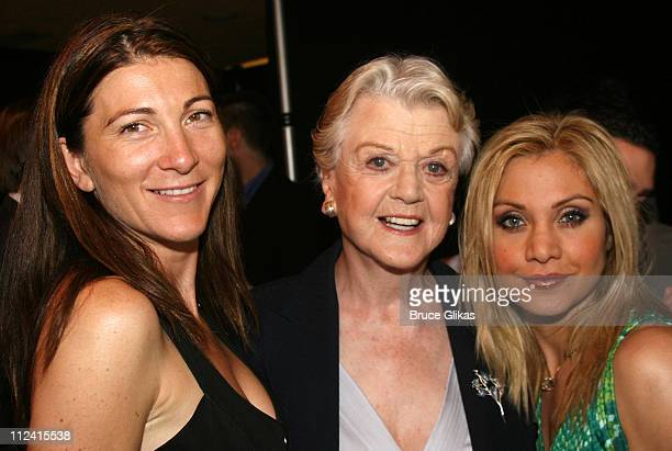 Eve Best Angela Lansbury and Orfeh during 2007 Tony Award Nominee Press Reception at The Marriott Marquis in New York New York United States