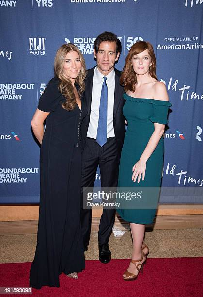 Eve Best Clive Owen and Kelly Reilly attend the 'Old Times' Broadway Opening Night at American Airlines Theatre on October 6 2015 in New York City