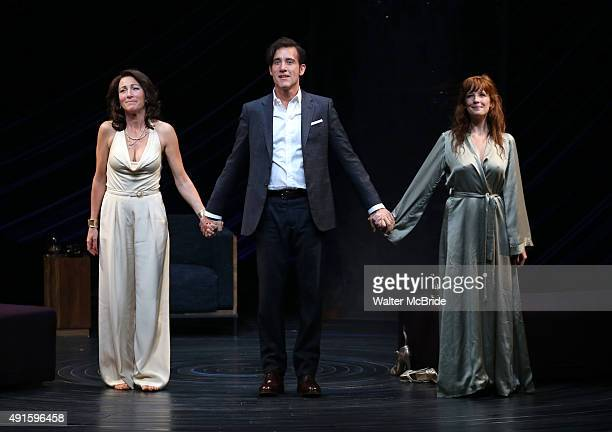 Eve Best Clive Owen and Kelly Reilly during the Broadway Opening Night Performance Curtain Call for The Roundabout Theatre Company's revival of 'Old...