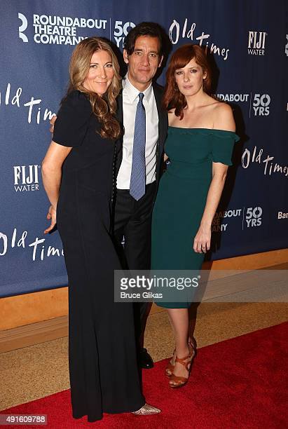 Eve Best Clive Owen Kelly Reilly arrive for The Opening Night After Party for 'Old Times' on Broadway atRed Eye Grill on October 6 2015 in New York...