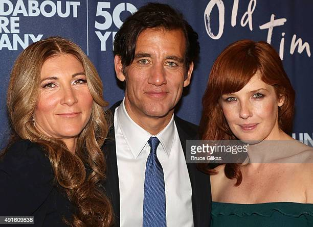 "Eve Best, Clive Owen, Kelly Reilly arrive for The Opening Night After Party for ""Old Times"" on Broadway atRed Eye Grill on October 6, 2015 in New..."