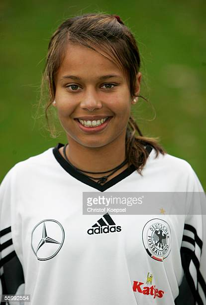 Eve Chandraratne poses during the Women's Under 17 German National Football Team photocall on October 24 2005 in Koblenz Germany