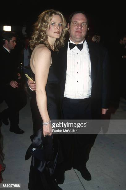 Eve Chilton and Harvey Weinstein attend Vanity Fair Oscar Party at Morton's on March 26 2000 in West Hollywood CA