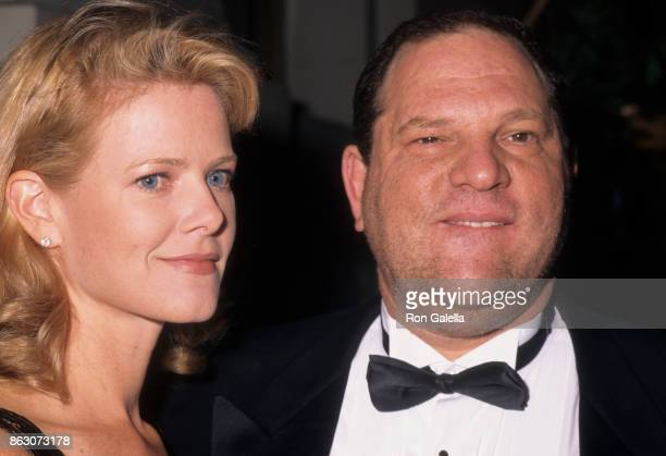 Eve Chilton Weinstein and Harvey Weinstein attend American Museum of the Moving Image Gala Honoring Tom Brokaw on September 23 1997 at the St Regis...