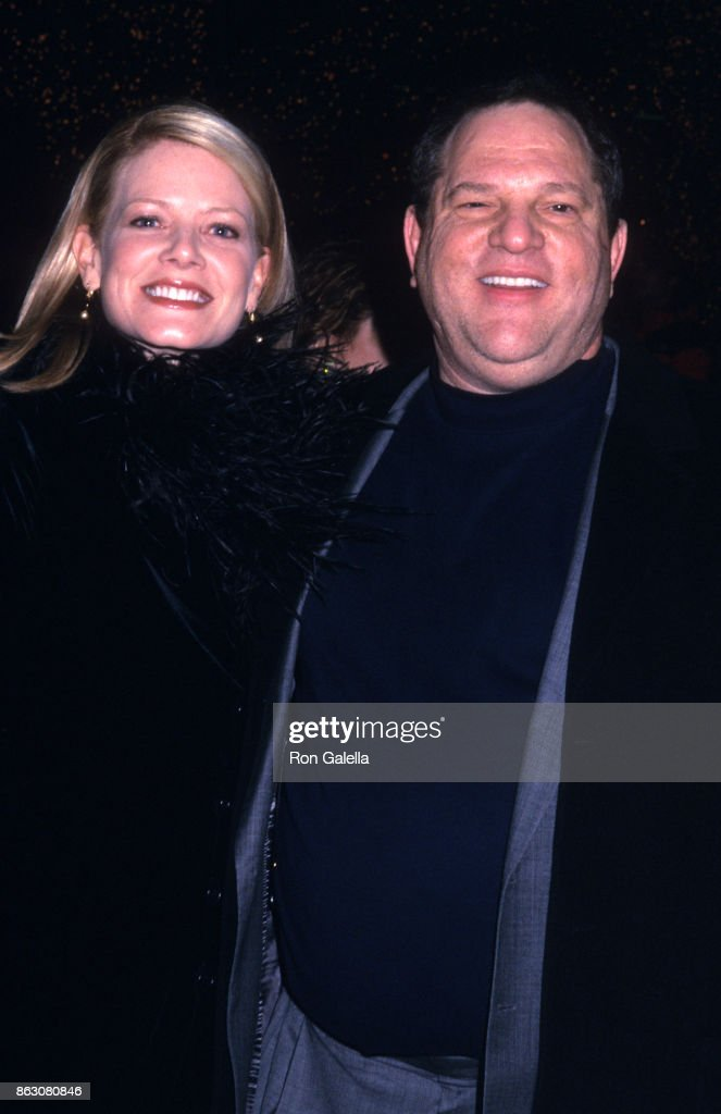 Eve Chilton Weinstein and Harvey Weinstein attend 'Chicago' Screening on December 18, 2002 at the Ziegfield Theater in New York City.