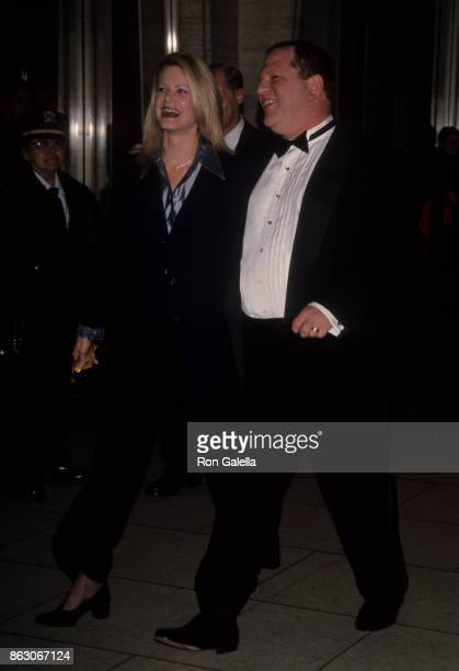 Eve Chilton Weinstein and Harvey Weinstein attend Film Society of Lincoln Center Gala Honoring Mike Nichols on May 3 1999 at Avery Fisher Hall at...